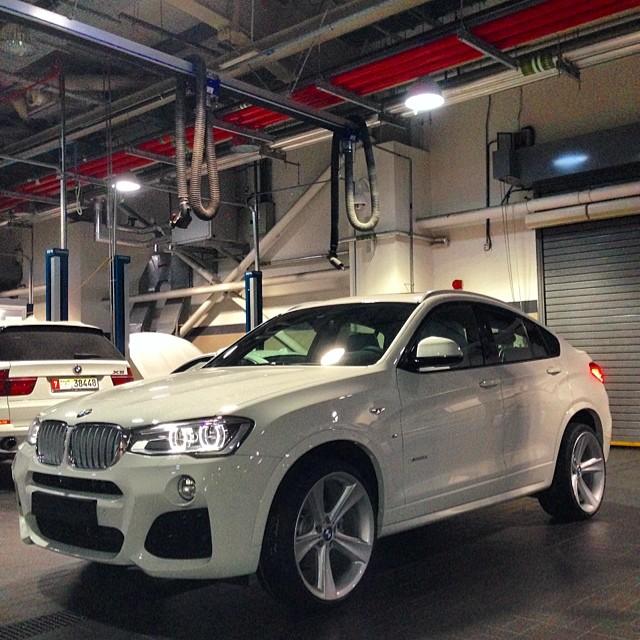 Custom Bmw X4 M Sport With Quad Exhaust Wheels At Bmw Abu Dhabi