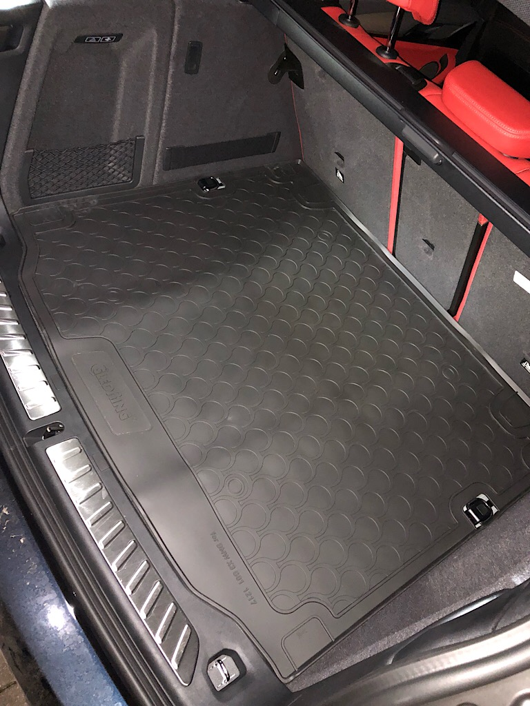 Gledring GLED-BL-1217 Custom Tailored Fit Black All Weather Rubber Boot Liner WITHOUT Spare Wheel