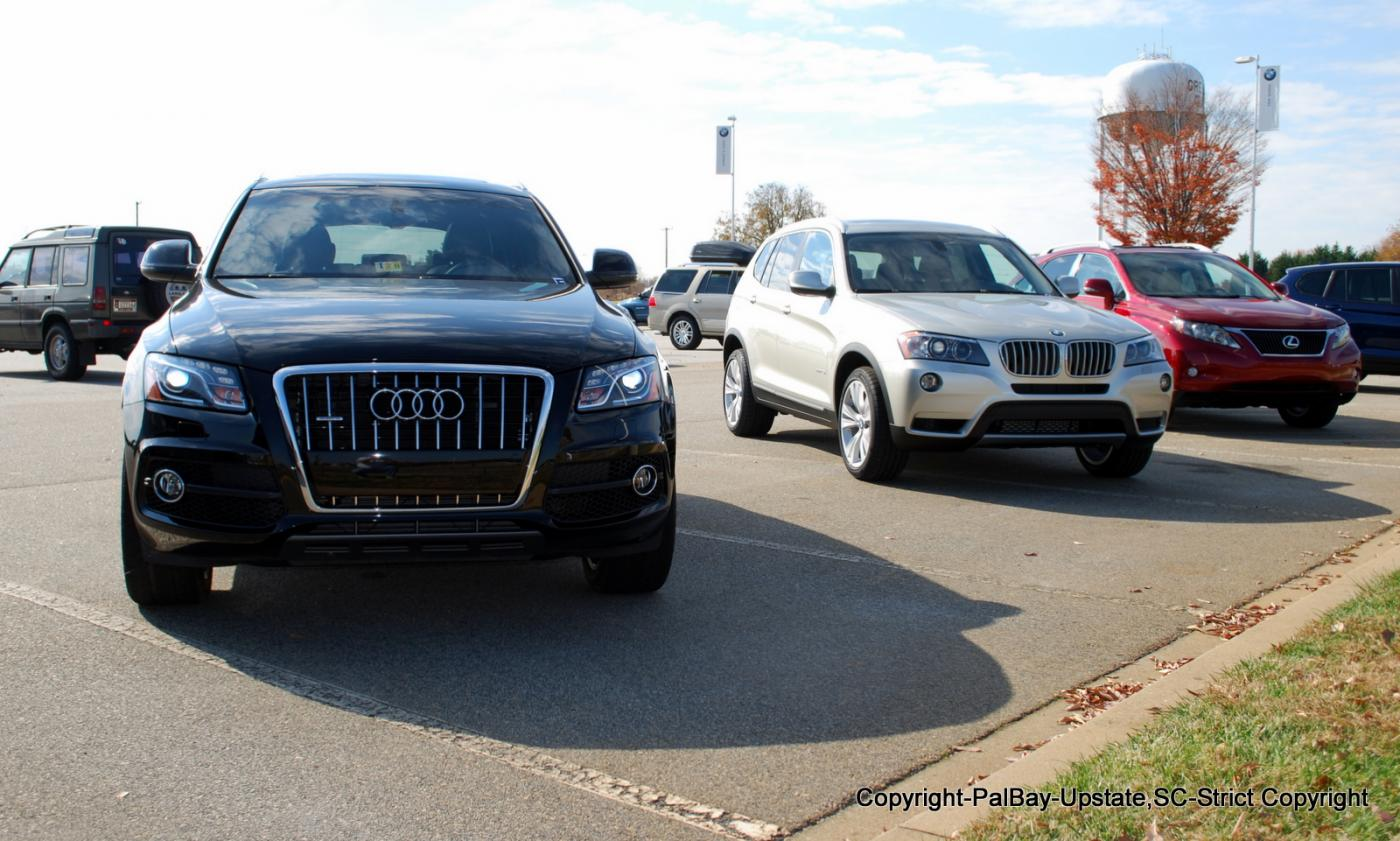 Real life pic s 2nd gen x3 xdrive35i in various colors and against q5 glk rx350