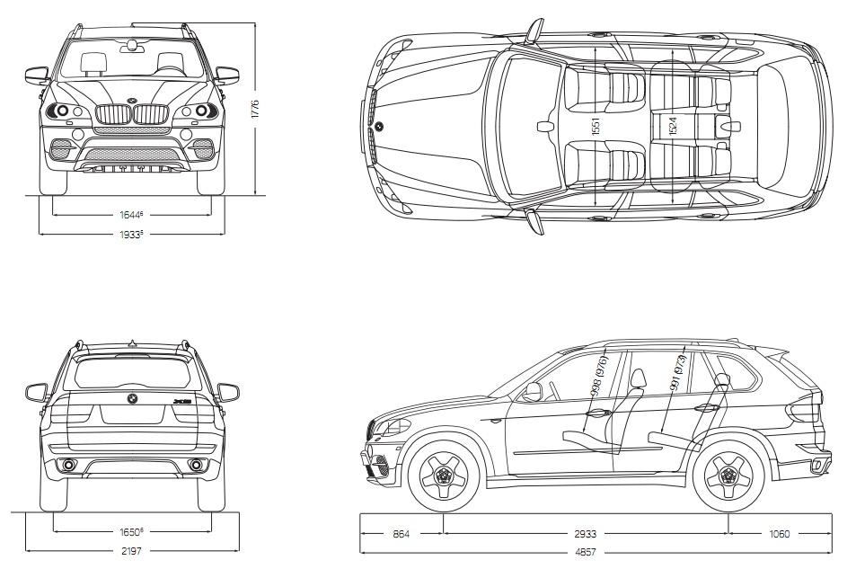 2017 bmw x5 interior dimensions