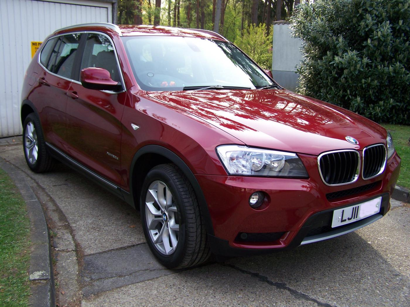 For sale 2011 bmw x3 2 0d se auto in metallic vermilion red uk based