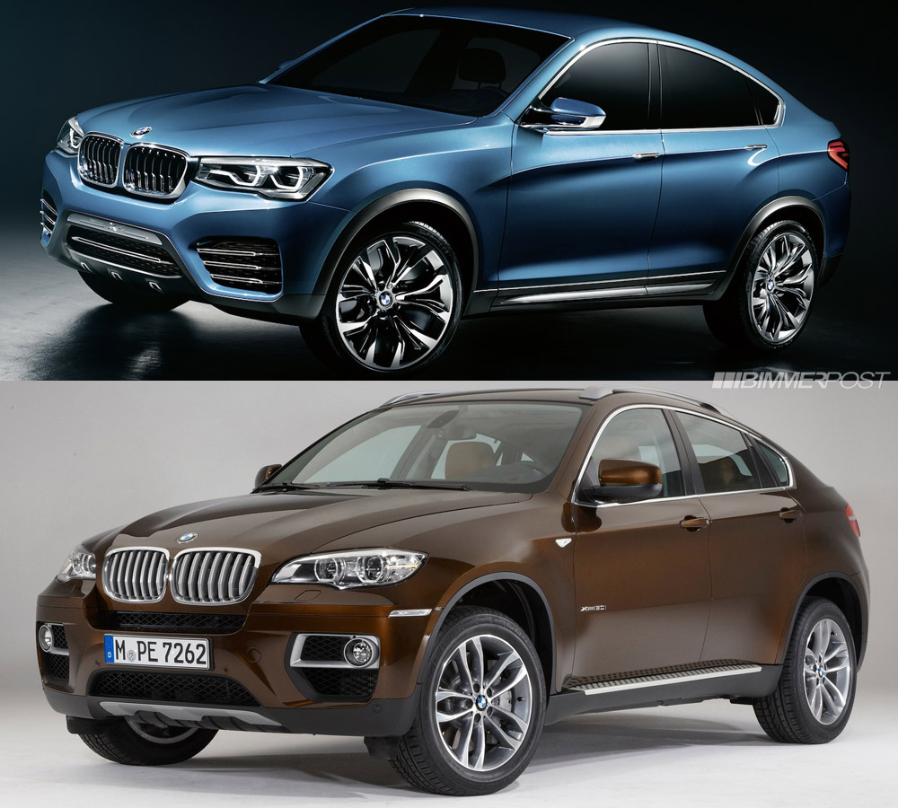 Bmw X6 Problems Forum: Side By Side Look At BMW X4 Concept And X6 SAC