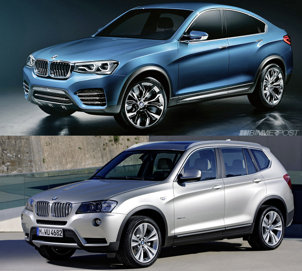 bmw x4 concept vs x3 a comparison look. Black Bedroom Furniture Sets. Home Design Ideas