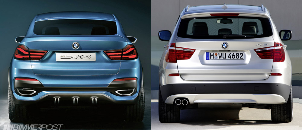 BMW X4 Concept Vs X3 A Comparison Look