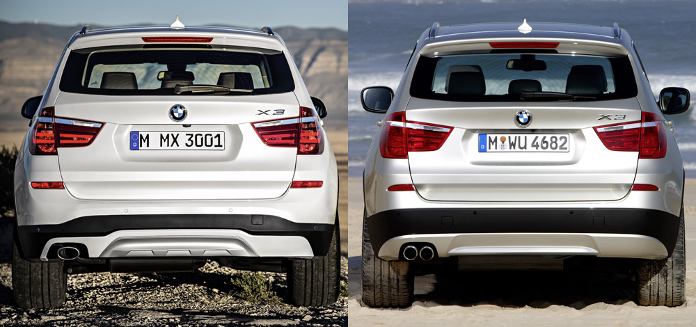Visual Comparison Between X3 LCI Facelift and PreFacelift X3