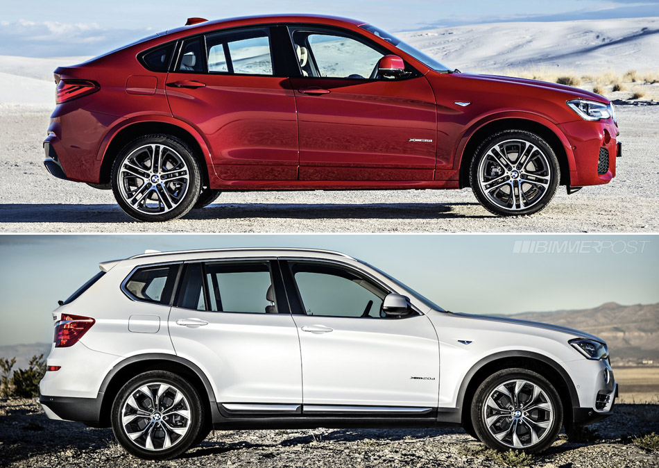 Bmw X4 Versus X3 Visual Comparison