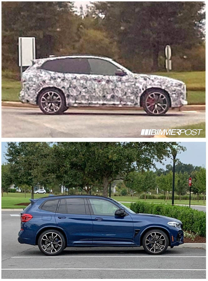 Name:  BMW X3M LCI Spied Comparison.jpg Views: 7225 Size:  138.5 KB