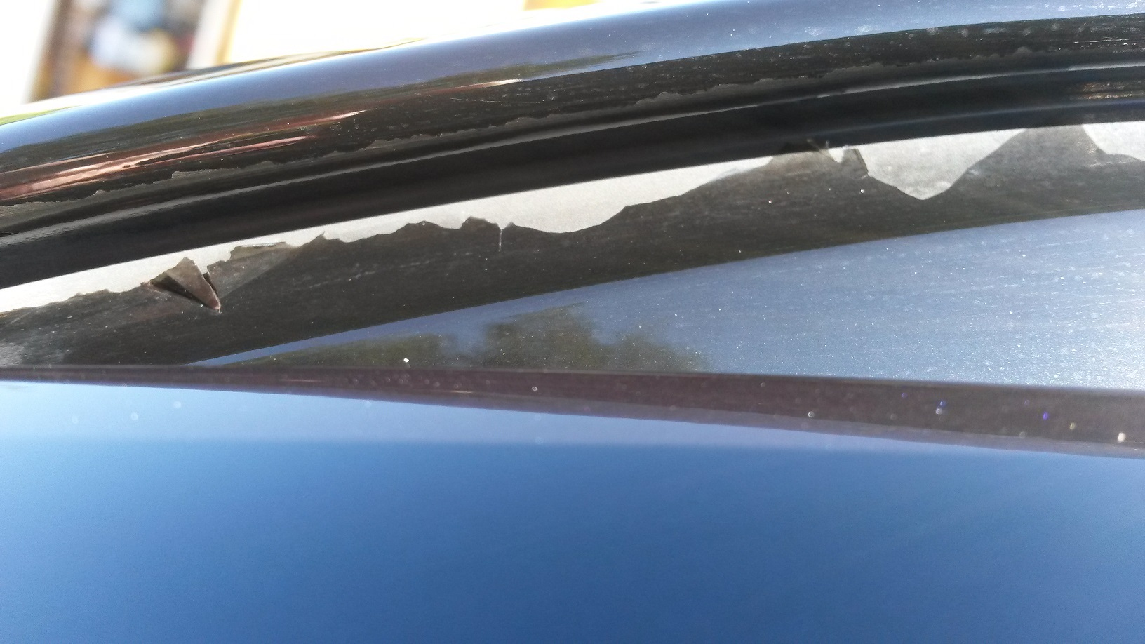 Black Corrosion Paint Peeling Under Car