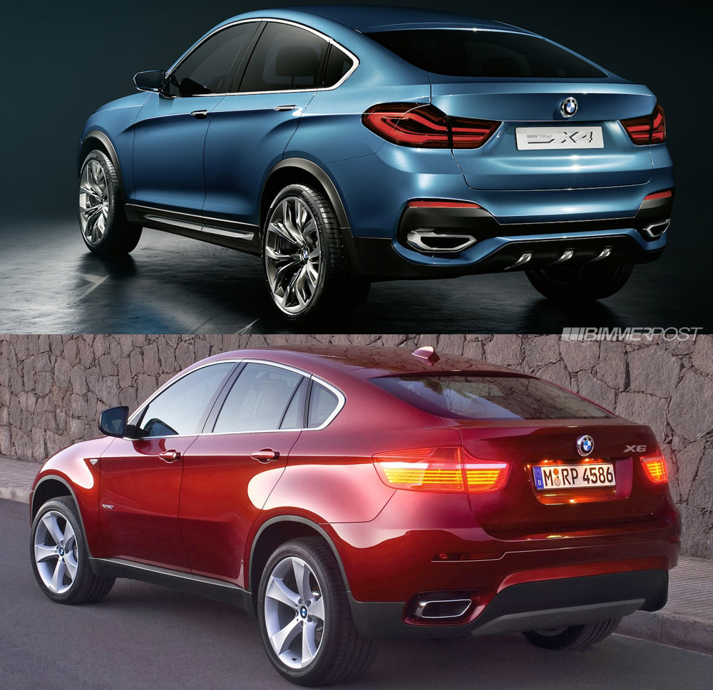 Bmw X6 S: Side By Side Look At BMW X4 Concept And X6 SAC