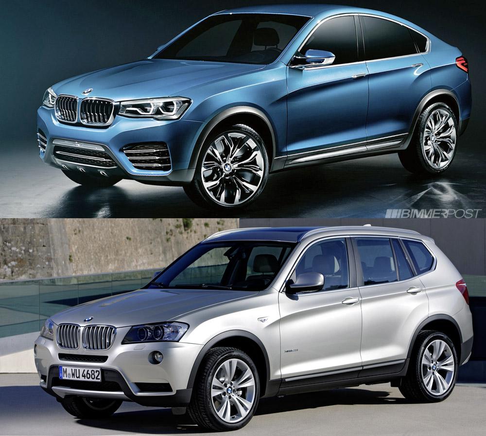 BMW X4 Concept vs X3, a Comparison Look
