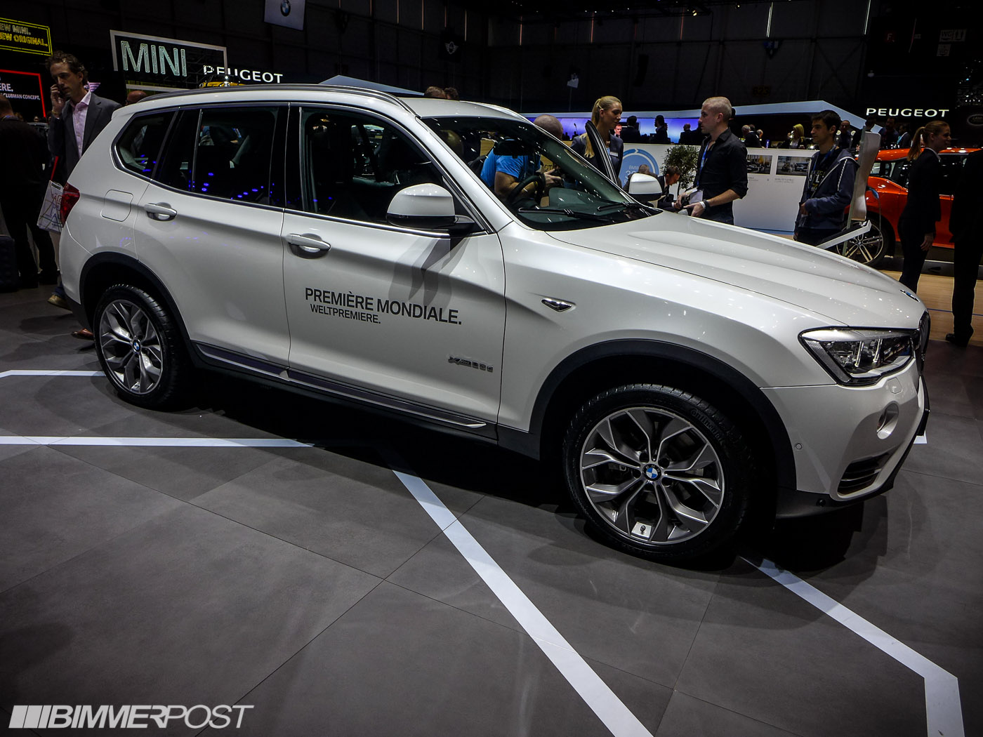 geneva 2014 bmw x3 lci facelift. Black Bedroom Furniture Sets. Home Design Ideas