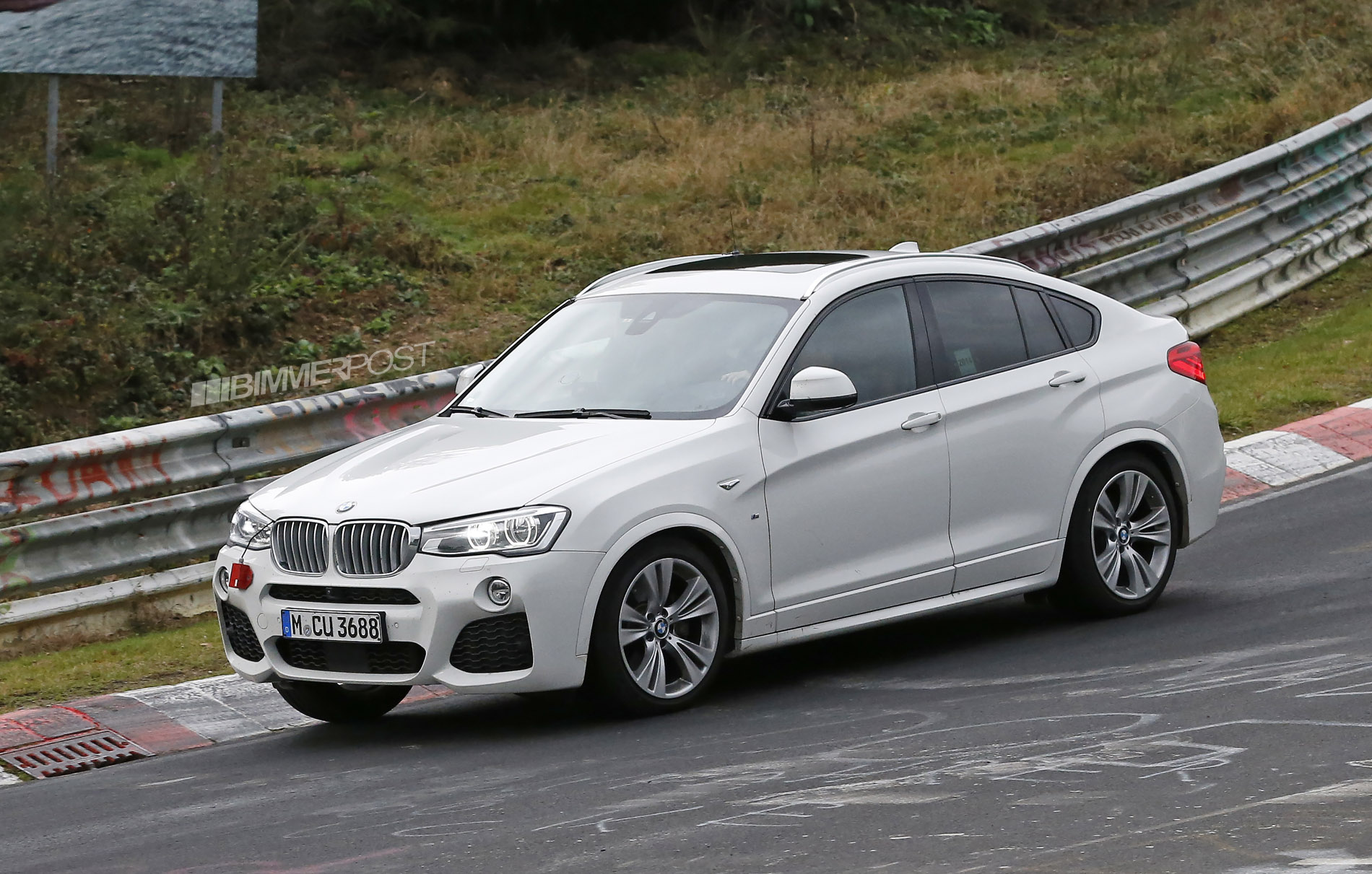 first photo 39 s bmw x4 m40i spied testing in usa series production confirmed. Black Bedroom Furniture Sets. Home Design Ideas